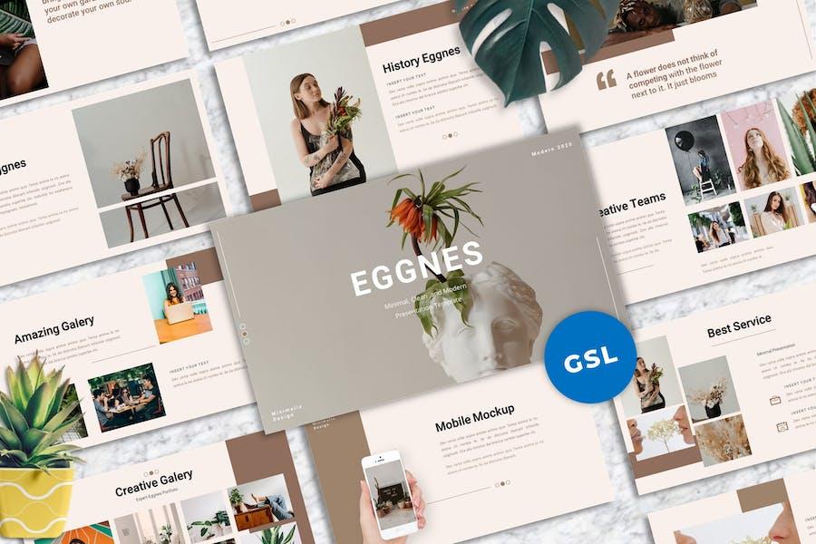 Eggnes - Clean Googleslide Templates