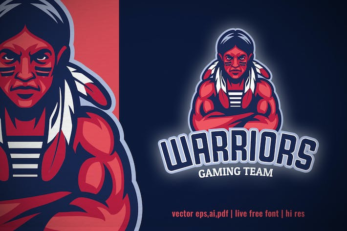 Thumbnail for Indian Mascot Sport and Esport logo