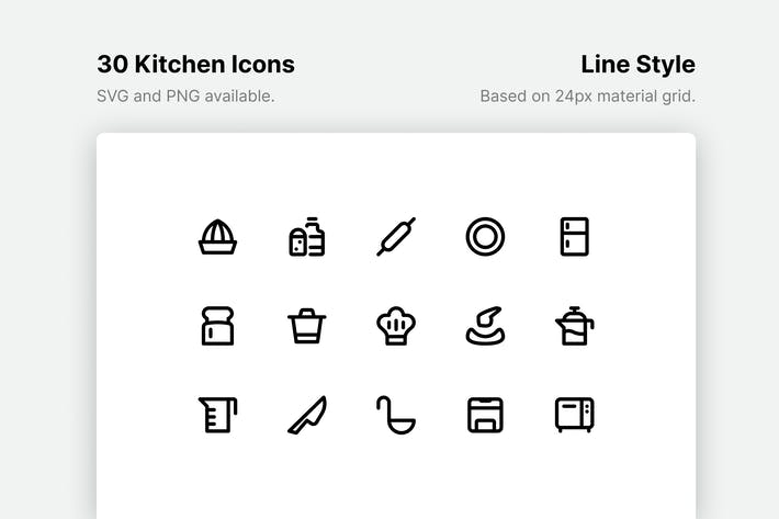 Thumbnail for Kitchen Line Icons