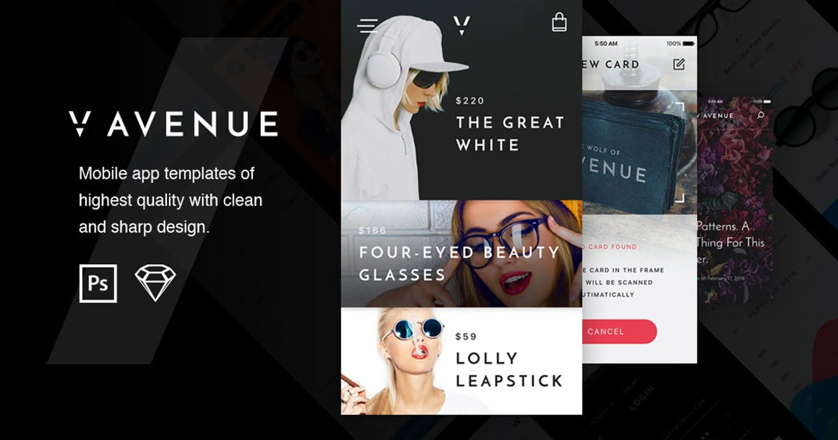 V Avenue Mobile UI Kit by Unknow
