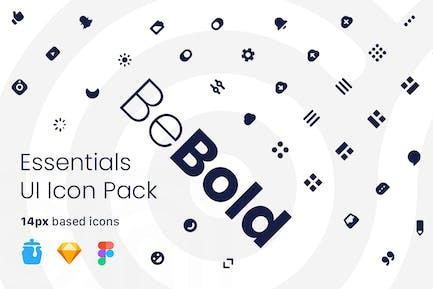 Paquete de iconos de interfaz de usuario BeBold Essentials
