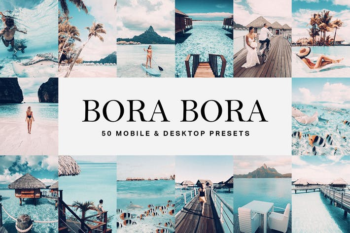 Thumbnail for 50 Bora Bora Lightroom Presets and LUTs