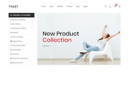 Tmart - Minimalista Shopify Tema