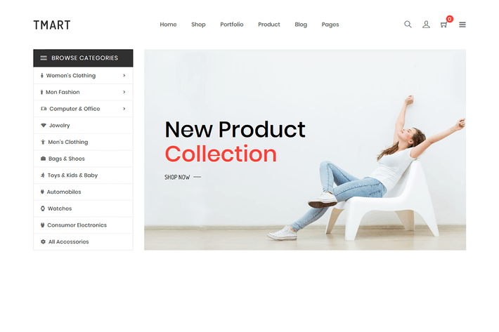 Thumbnail for Tmart - Minimalist Shopify Theme