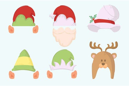 Simple Christmas Hats Illustration