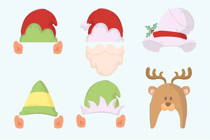 Thumbnail for Simple Christmas Hats Illustration