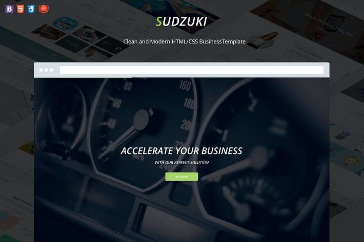 Thumbnail for Sudzuki - Business HTML5/CSS3 Template
