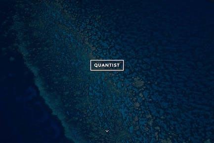 Квантист - Отзывчивый полноэкранный обложка Тема