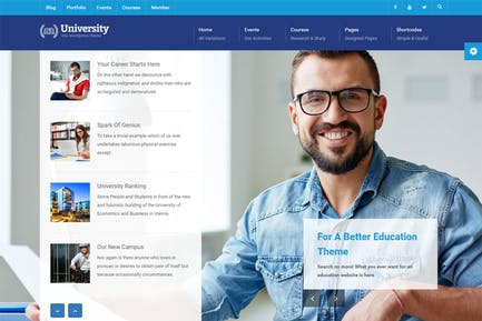 University - Education, Event and Course HTML Temp