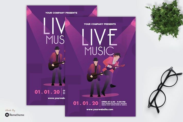 Cover Image For Musique en direct - dépliant GR