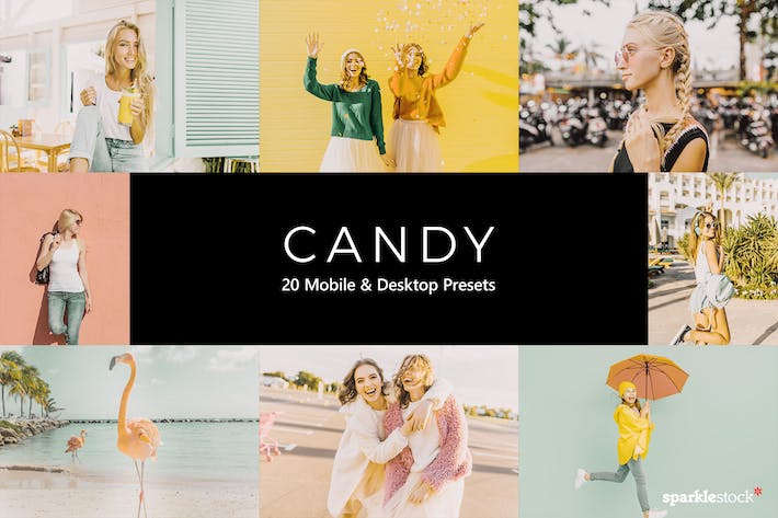 Thumbnail for 20 Candy Lightroom Presets & LUTs