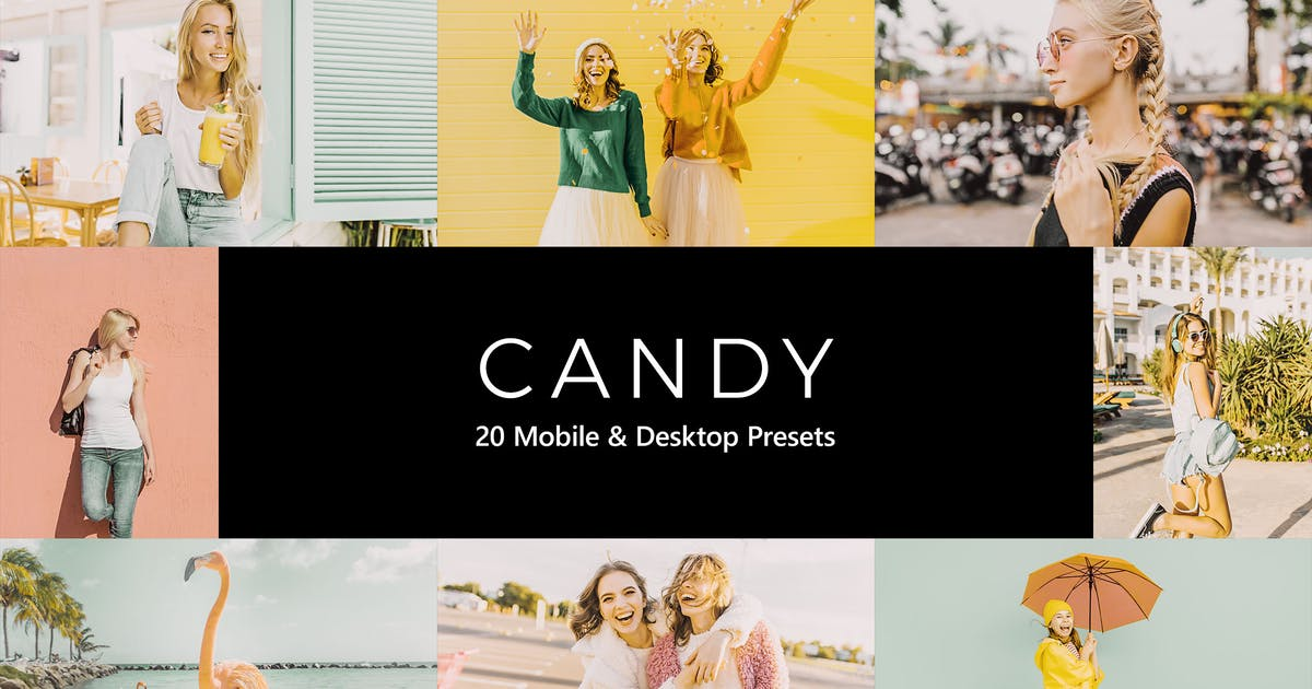 Download 20 Candy Lightroom Presets & LUTs by sparklestock
