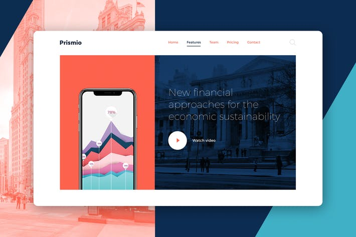 Thumbnail for Finance Header PSD Template