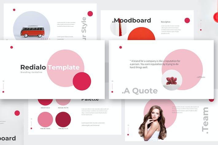 Thumbnail for Redialo - Branding Guideline Keynote Template