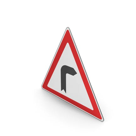 Straßenschild-Kurve nach rechts