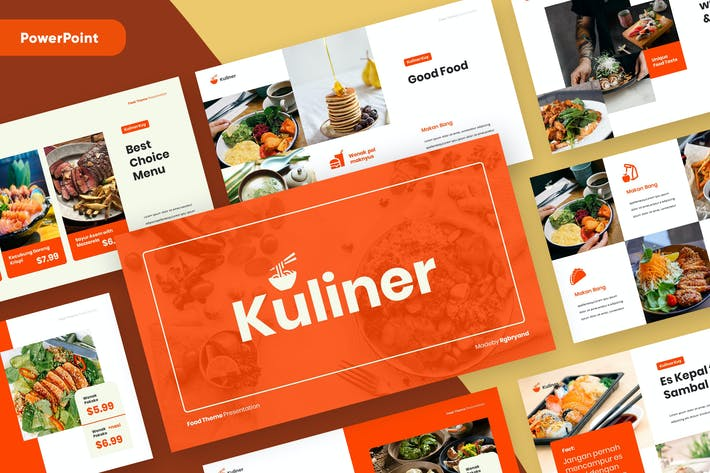 KULINER - Food Business Powerpoint Template