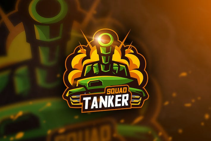 Thumbnail for Tanker Squad - Mascot & Esport Logo
