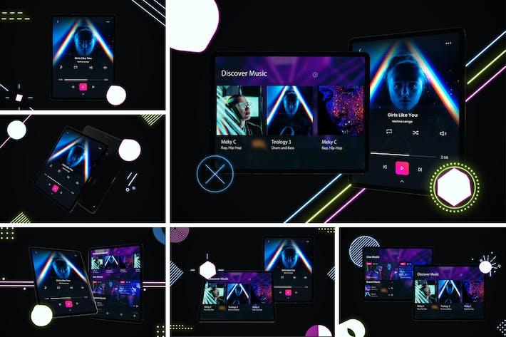 Thumbnail for Neon iPad Pro Mockup