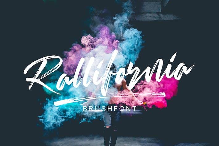 Thumbnail for Rallifornia Brush Font