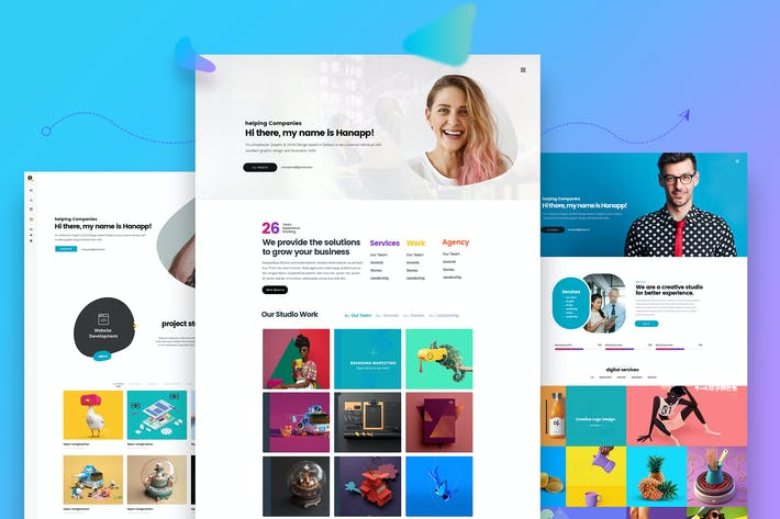 Thumbnail for Creative Multiple Resume Website Design Template