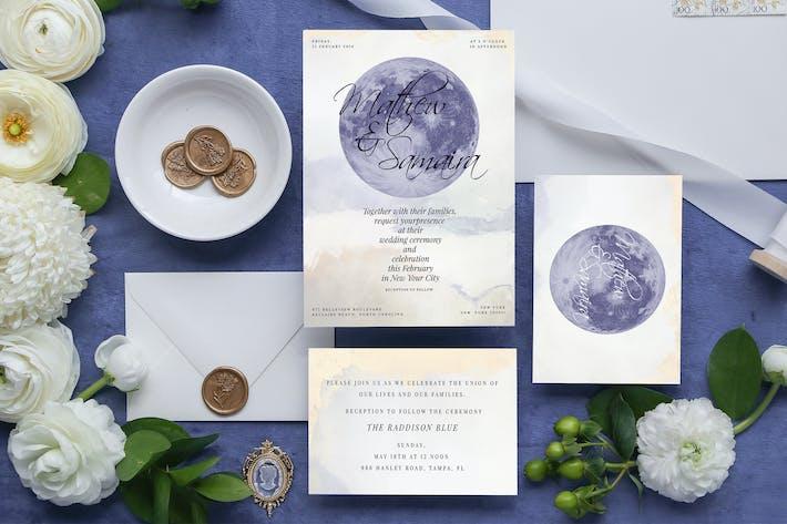 Thumbnail for Celestial Wedding Invitation Card