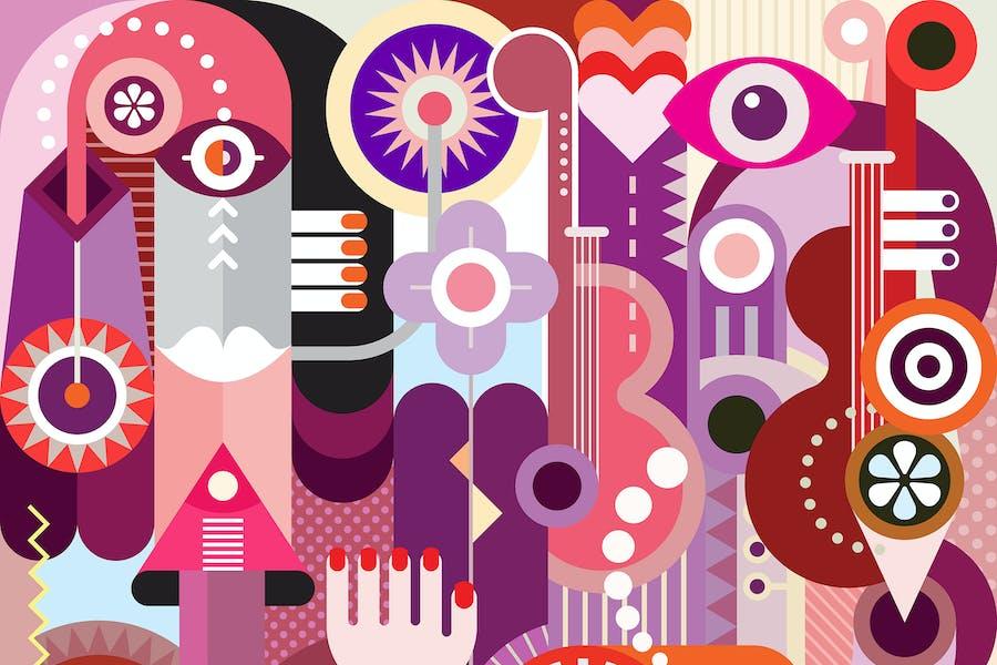 Фон абстрактного графического дизайна