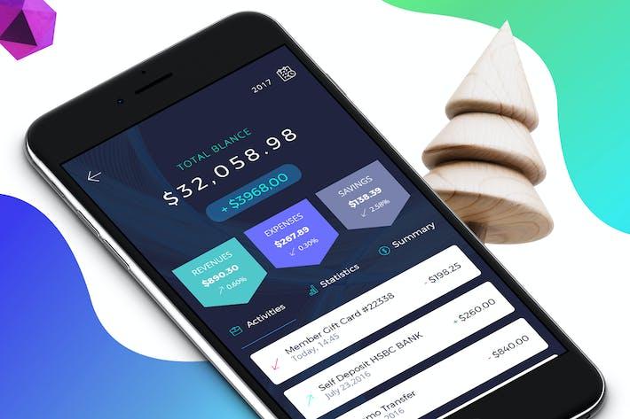 Thumbnail for Finance 5 Mobile Ui - H