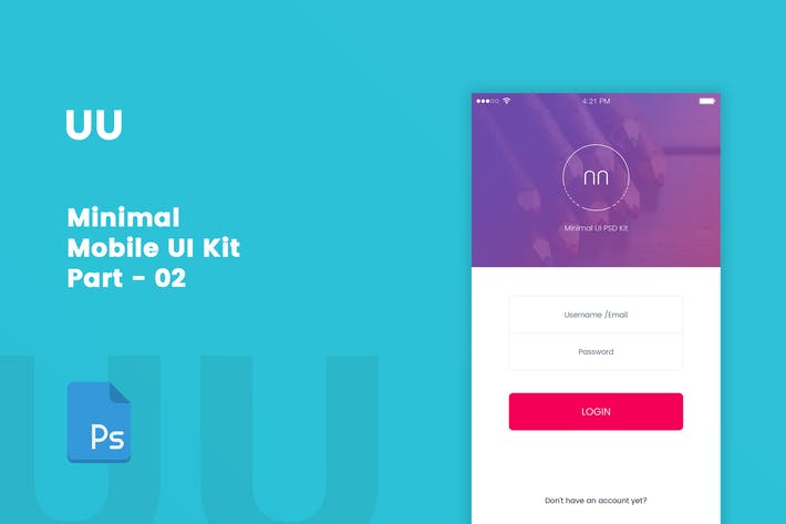 Thumbnail for UU - Minimal Mobile UI Kit Part 02 Sign In form