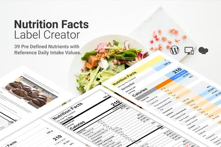 Nutrition Facts Label Creator for WPBakery