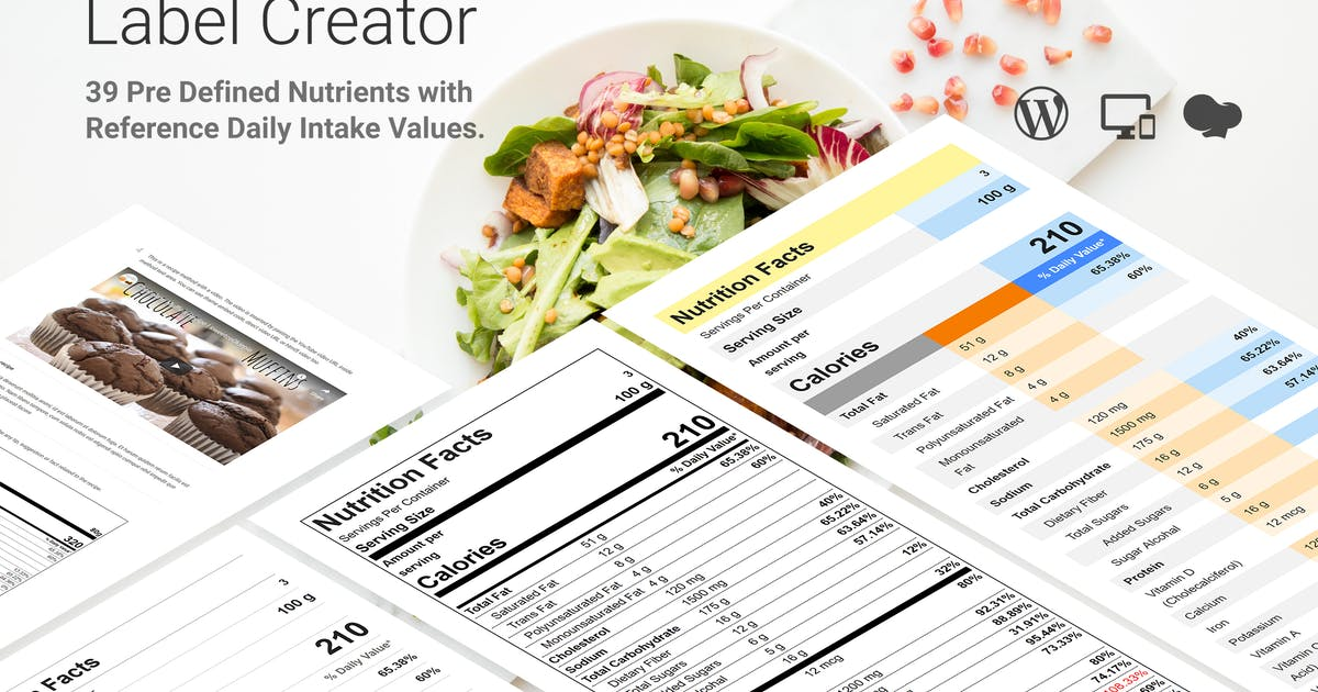 Download Nutrition Facts Label Creator for WPBakery by SaurabhSharma