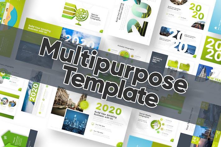 Thumbnail for Powerpoint-Vorlage für Mehrzweck 2020 Edition
