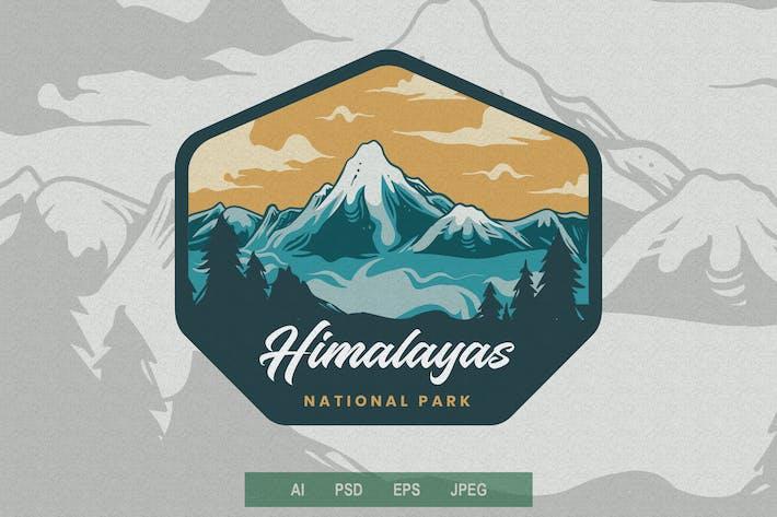 Vintage Emblem - Mountain V1