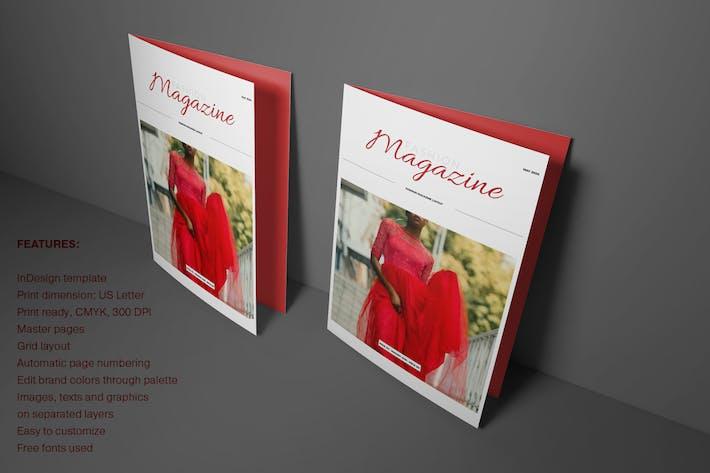 Thumbnail for Magazine de mode rouge