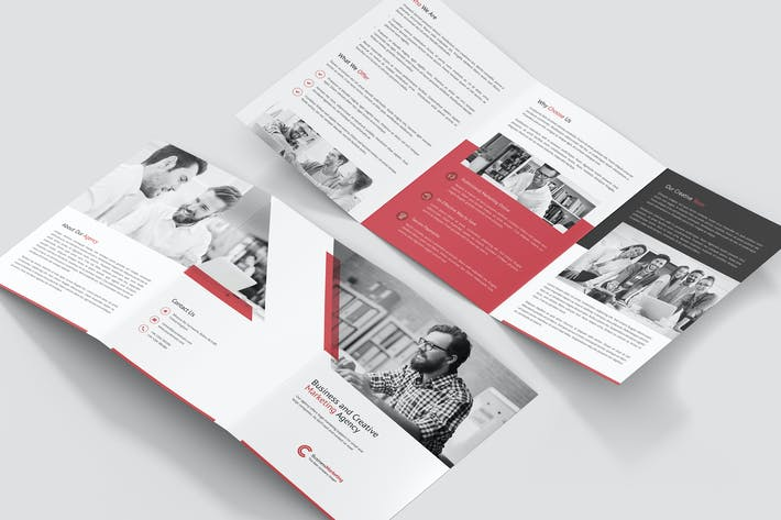 Thumbnail for Brochure – Business Marketing Tri-Fold A5