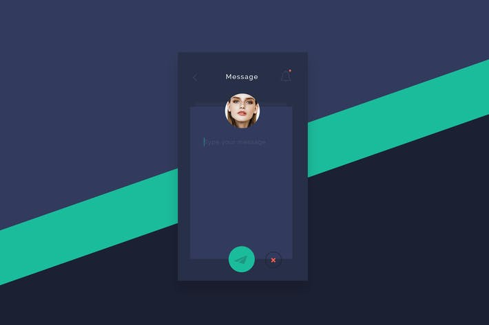 Thumbnail for Flat Post Message App screen