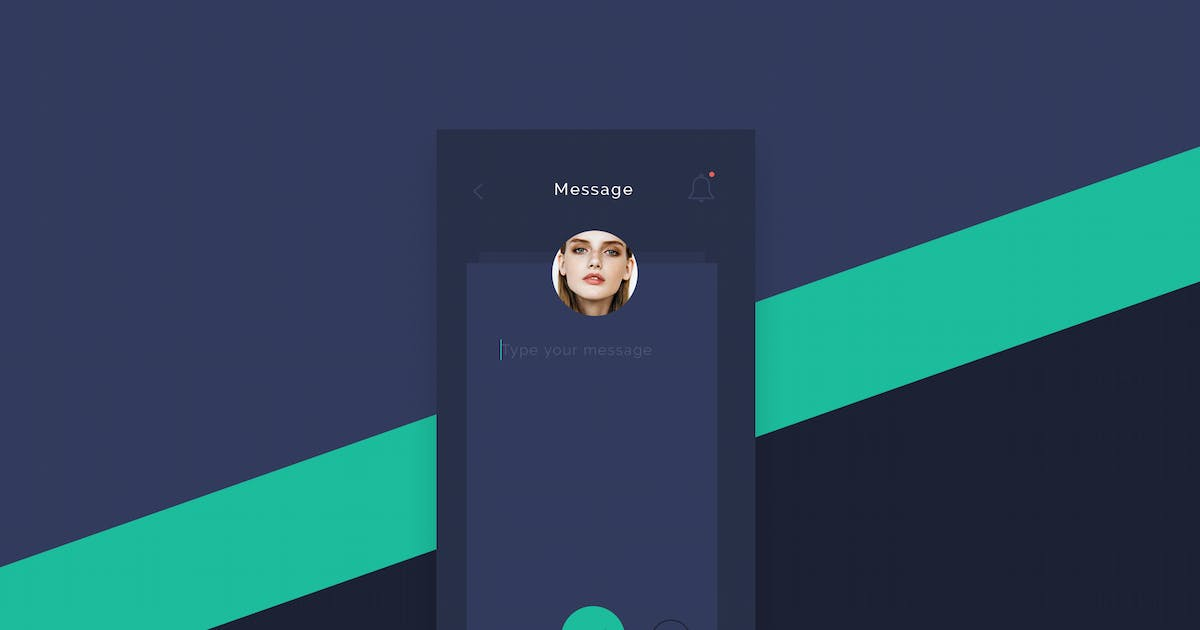 Flat Post Message App screen by Unknow