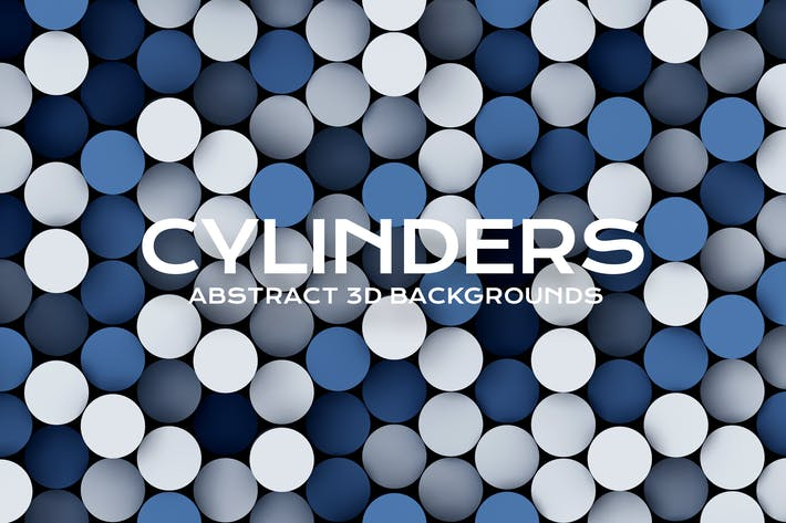Thumbnail for 3D Cylinders Backgrounds Pack