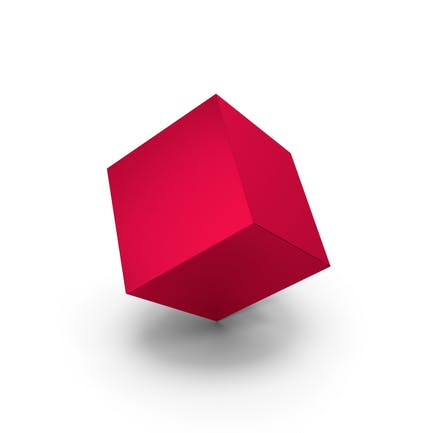 Red Metallic Cube