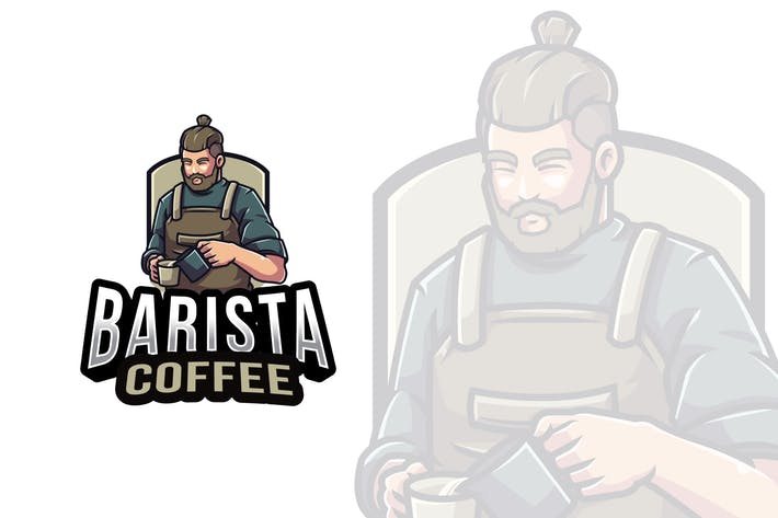 Thumbnail for Barista Coffee Logo Template