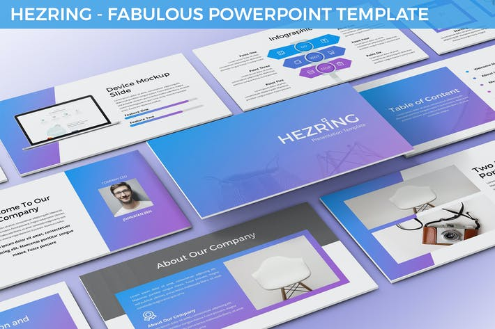 Thumbnail for Hezring - Fabulous Powerpoint Template