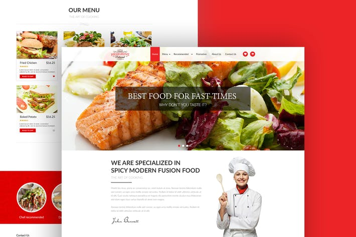 Cover Image For Food Restaurant Landing Page