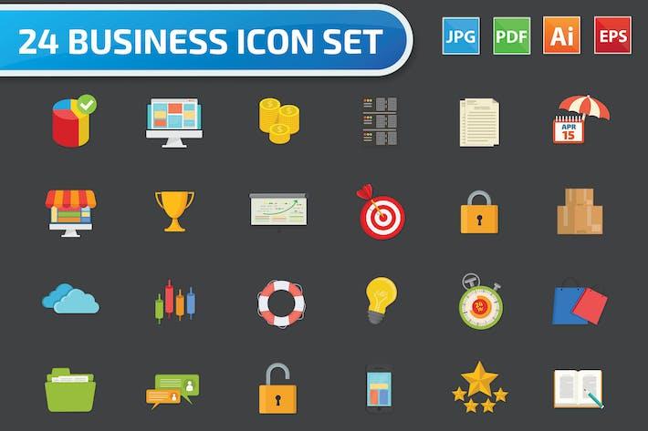 Thumbnail for Business Icon Set