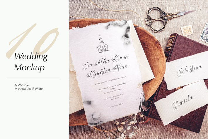 Cover Image For Wedding Photo Mockup 10