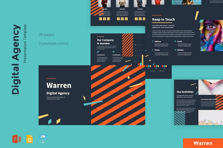 Thumbnail for Warren - Digital Agency Presentation Template