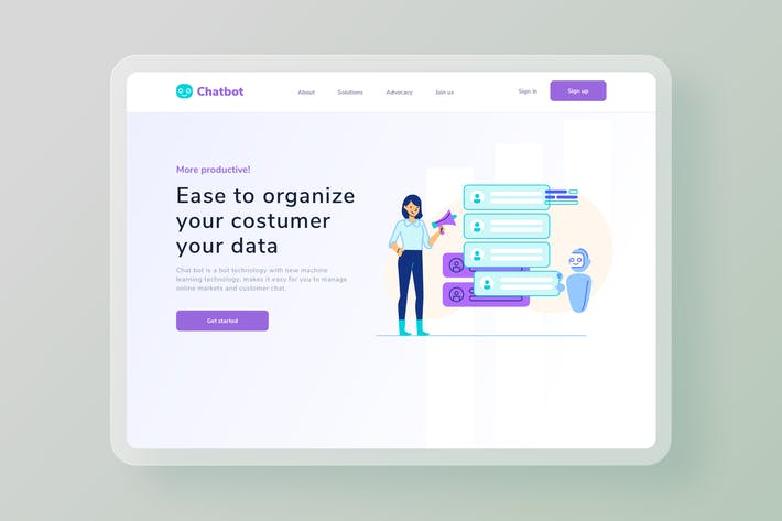 Thumbnail for Collect your user data website Illustration