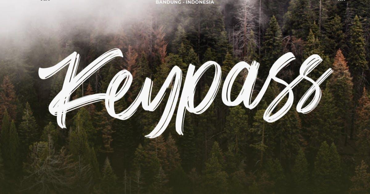 Download Keypass   Handbrushed Font by garisman