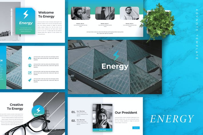 Thumbnail for ENERGY - Company Profile Keynote Template
