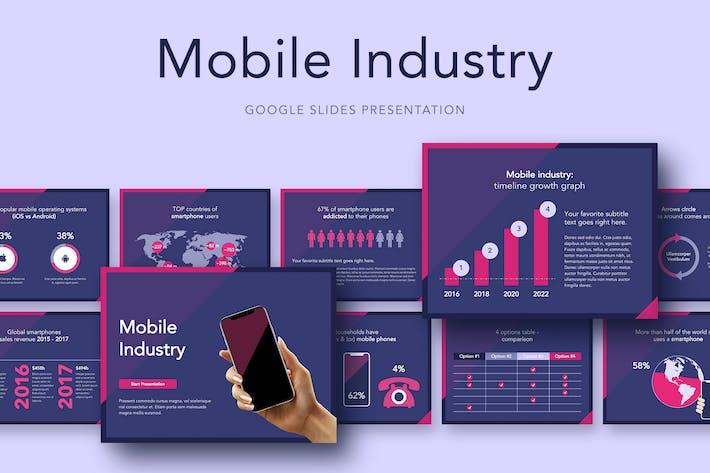 Thumbnail for Шаблон слайдов Google для мобильной индустрии