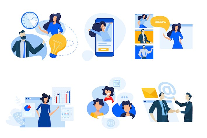 Cover Image For Flat design concept icons collection