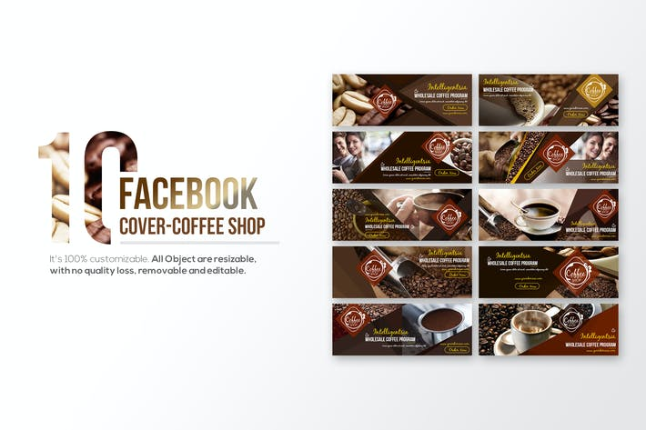 Thumbnail for 10 Facebook Cover - Coffee Shop